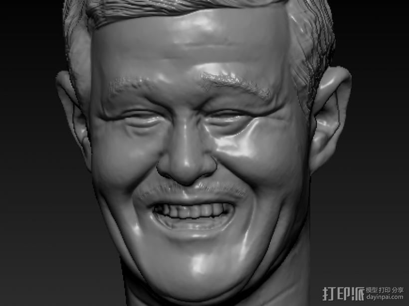 赵本山 3D打印模型渲染图