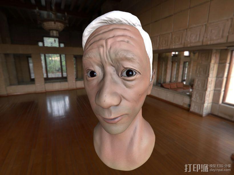 写实肖像模型 3D打印模型渲染图