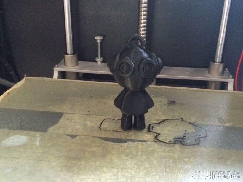 3D打印小玩偶 3D打印模型渲染图