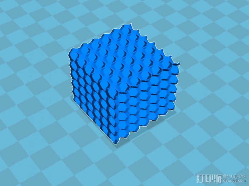 十四面体多胞结构 3D打印模型渲染图