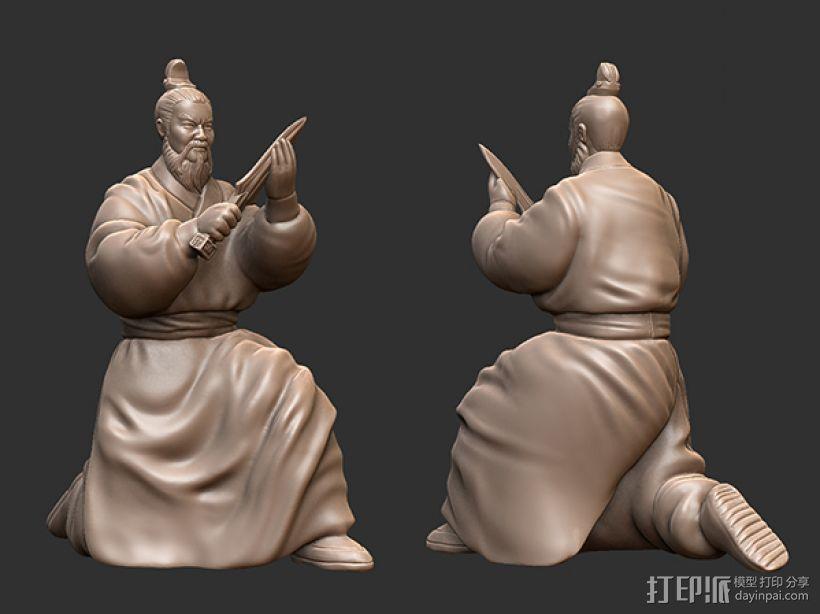 三国演义之曹操献刀——曹操 3D打印模型渲染图