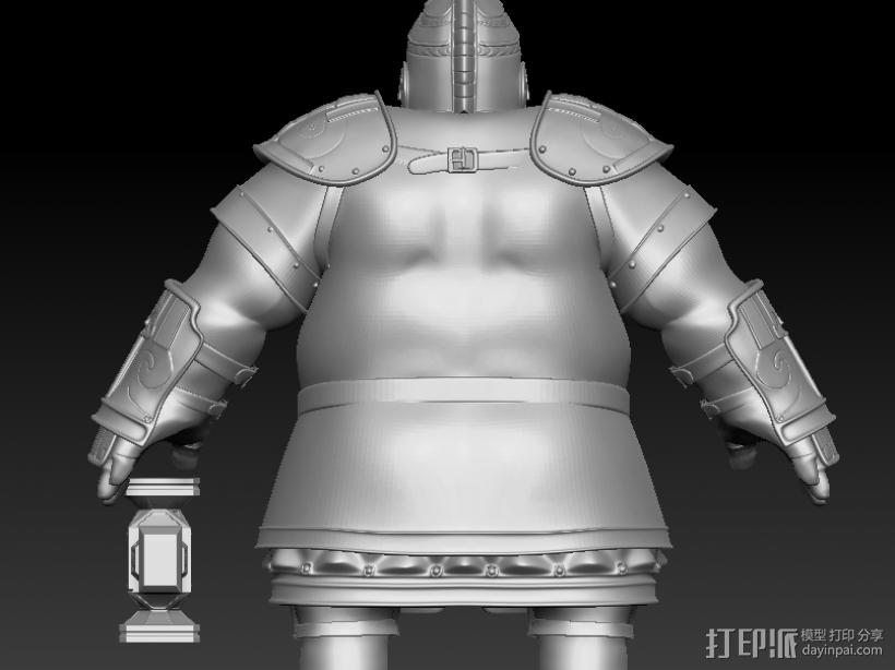 战士 3D打印模型渲染图
