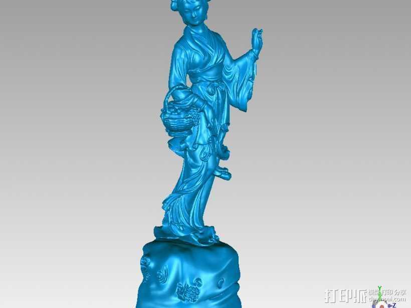 八仙-何仙姑 3D打印模型渲染图
