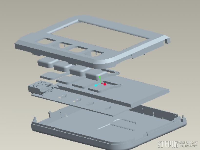 U盾 3D打印模型渲染图