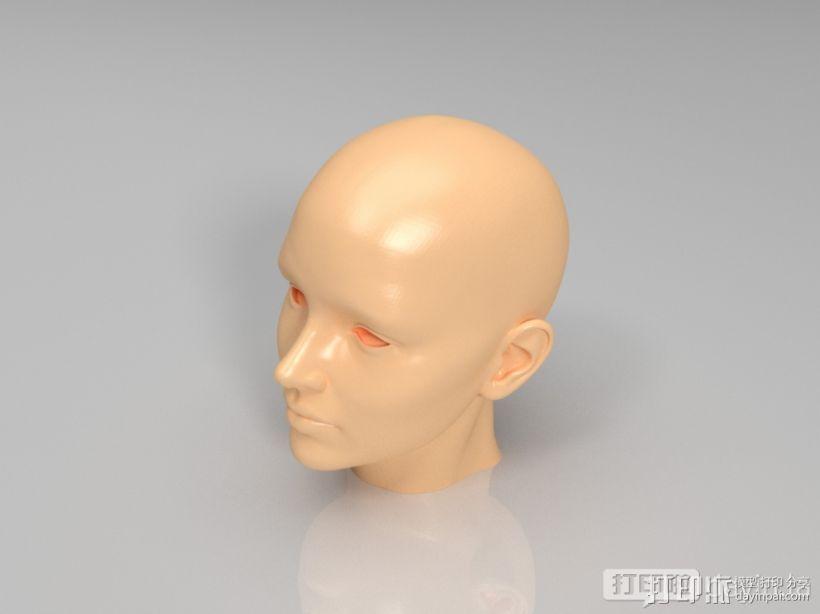 女性的头 3D打印模型渲染图