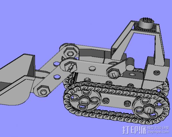 挖机 3D打印模型渲染图