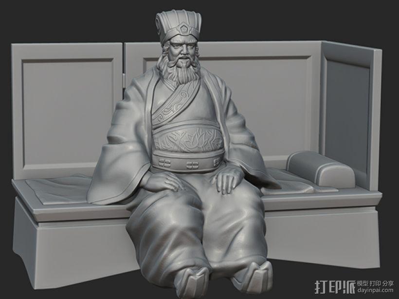 三国演义之曹操献刀——董卓 3D打印模型渲染图
