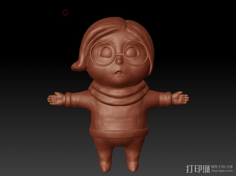 忧忧 3D打印模型渲染图