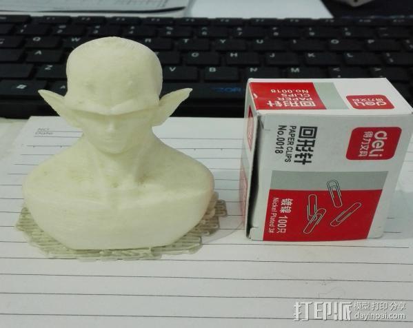 2年前打的短笛大魔王 3D打印模型渲染图