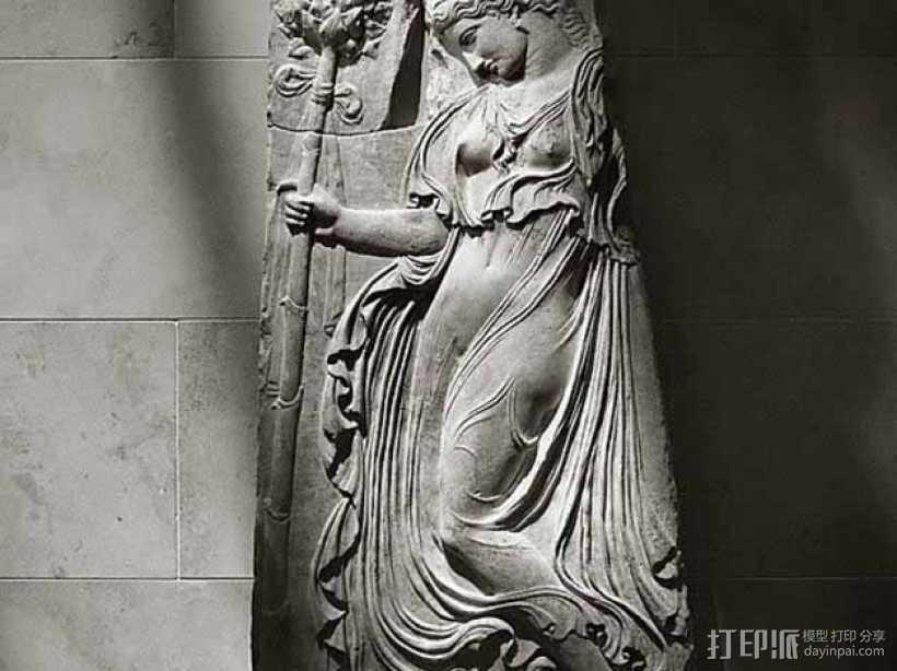 女祭司大理石雕像模型 3D打印模型渲染图