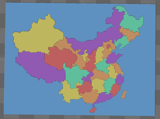 中国地图体素版