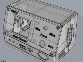 开源 1.8寸TFT屏版白光T12焊台 外壳