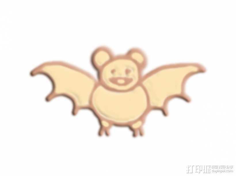 蝙蝠 3D打印模型渲染图