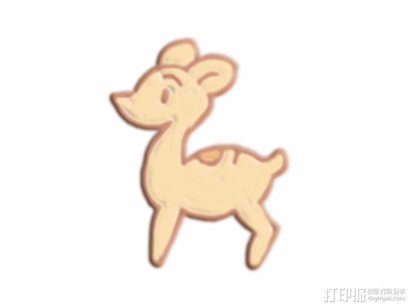 小鹿 3D打印模型渲染图