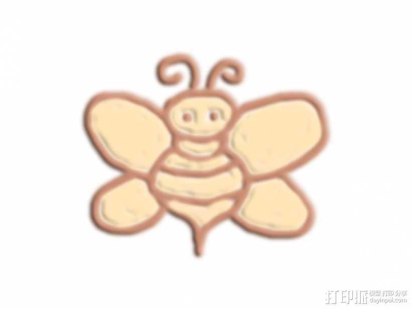 小蜜蜂 3D打印模型渲染图