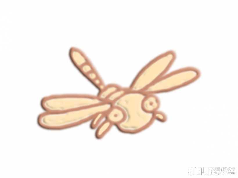 蜻蜓 3D打印模型渲染图