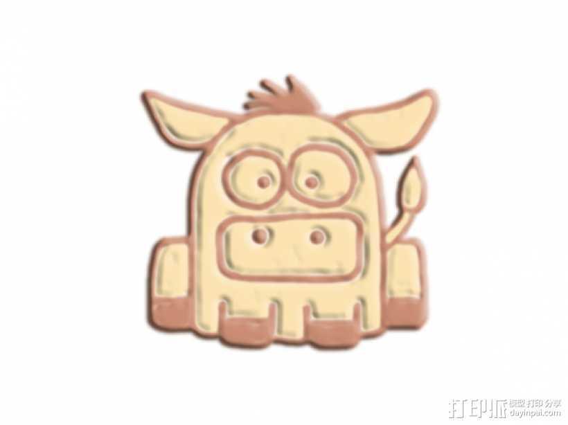 大鼻子 野猪 3D打印模型渲染图