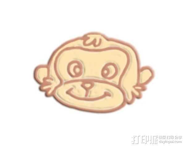 猴脸 3D打印模型渲染图
