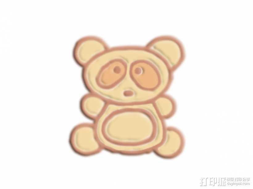 可爱熊 3D打印模型渲染图