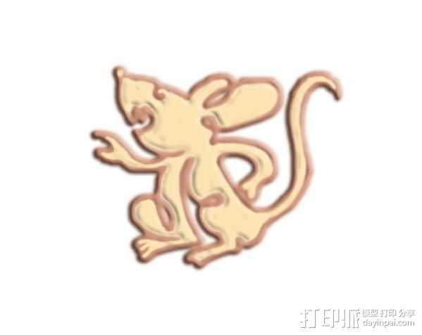 老鼠 3D打印模型渲染图