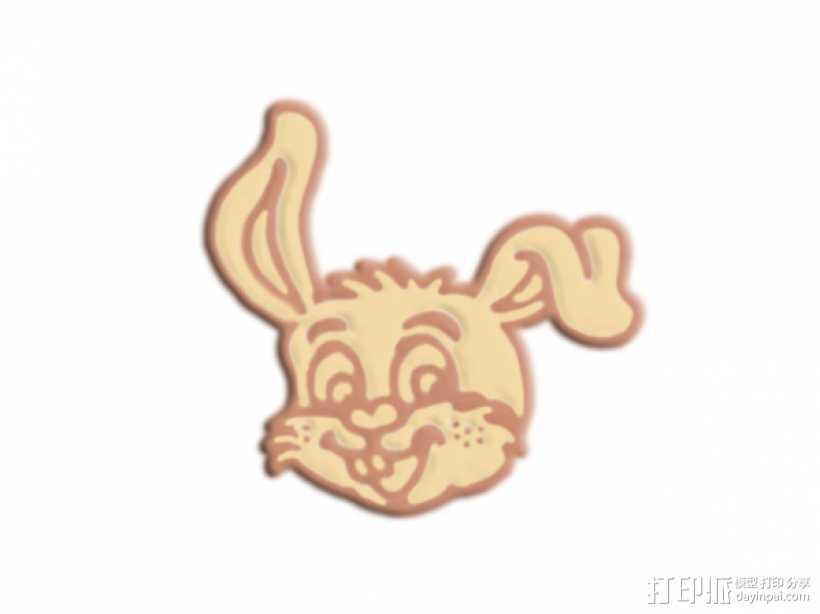 兔头 3D打印模型渲染图