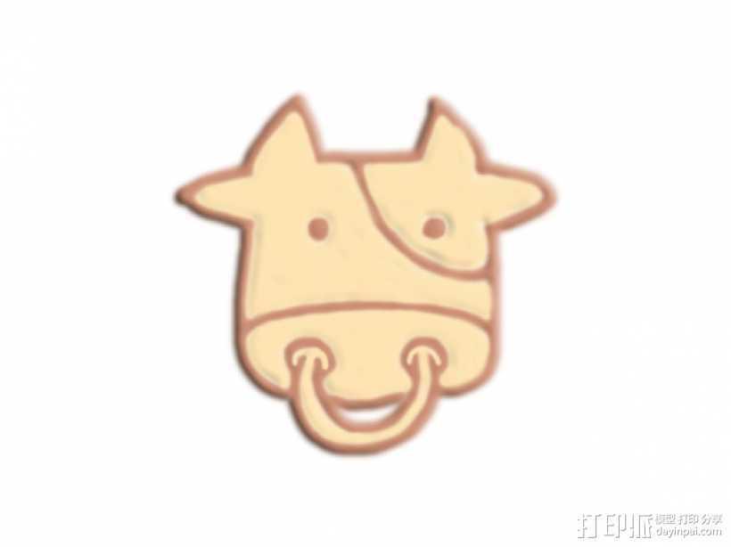 牛头 3D打印模型渲染图