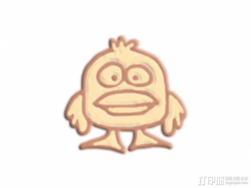 大嘴巴鸭子 3D打印模型渲染图