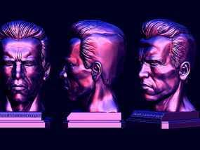 阿诺斯瓦辛格头像雕刻