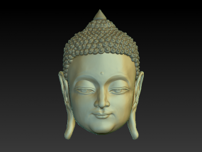佛头,承接雕刻模型石像铜像,3D打印模型修改美化