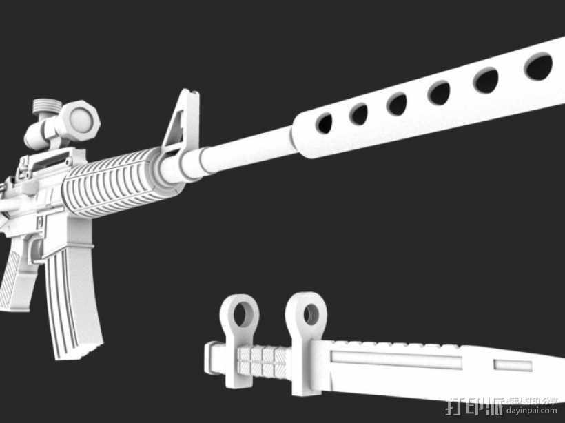 一把枪 3D打印模型渲染图