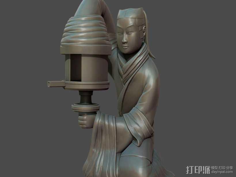 汉朝宫廷长信宫灯 3D打印模型渲染图