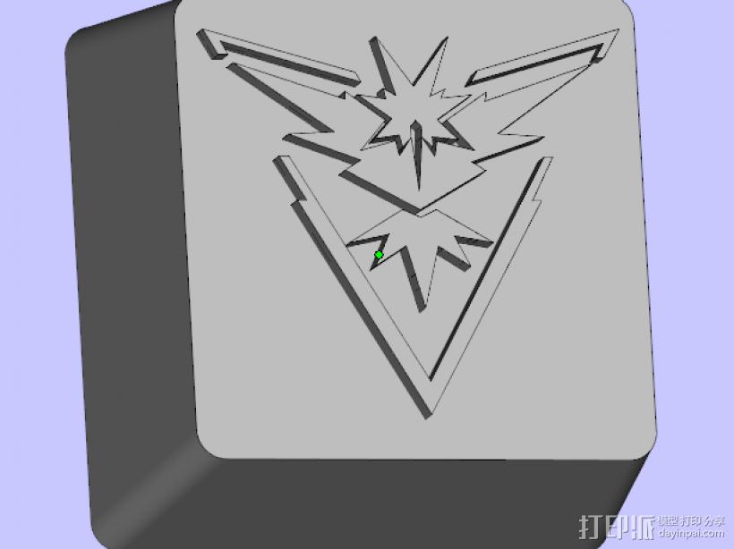 键盘按键 3D打印模型渲染图