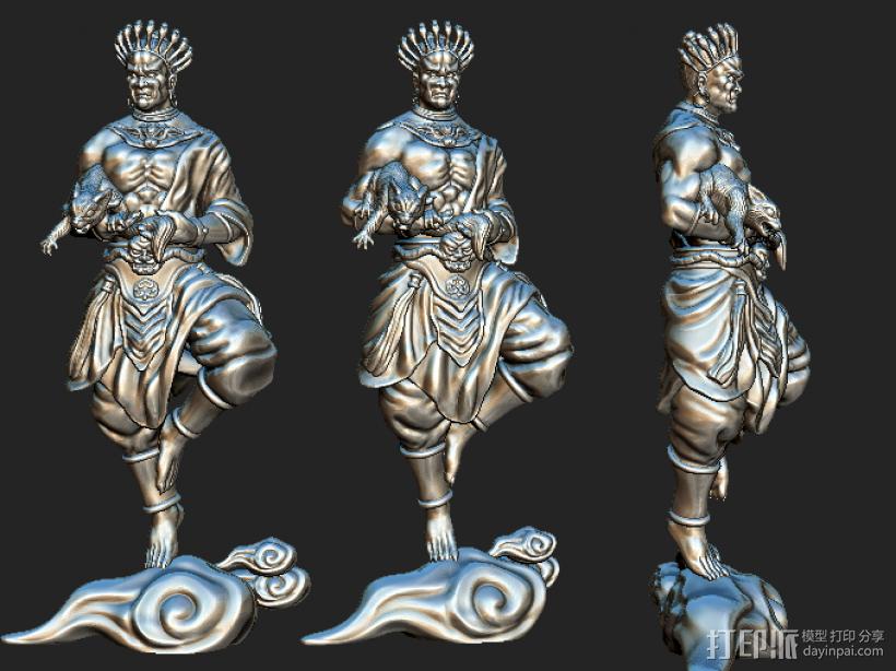 黄财神菩萨 3D打印模型渲染图