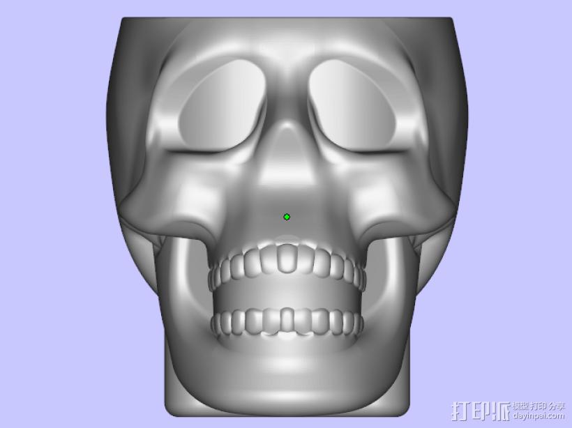 骷髅小酒杯 3D打印模型渲染图