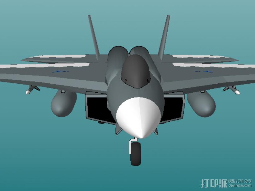 歼击机 3D打印模型渲染图
