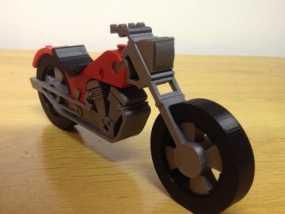 3D打印塑料摩托车