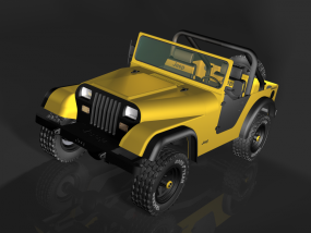 3D打印JEPP1987款牧马人车模