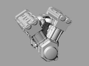 摩托车发动机模型