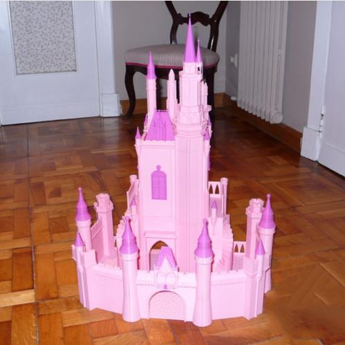 粉色公主城堡