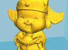 财神爷模型,打印效果好,实拍图呈上