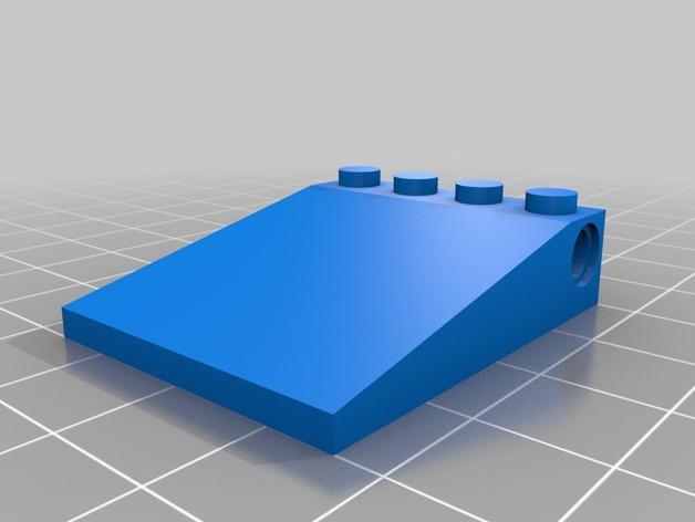 乐高积木-5×4屋顶