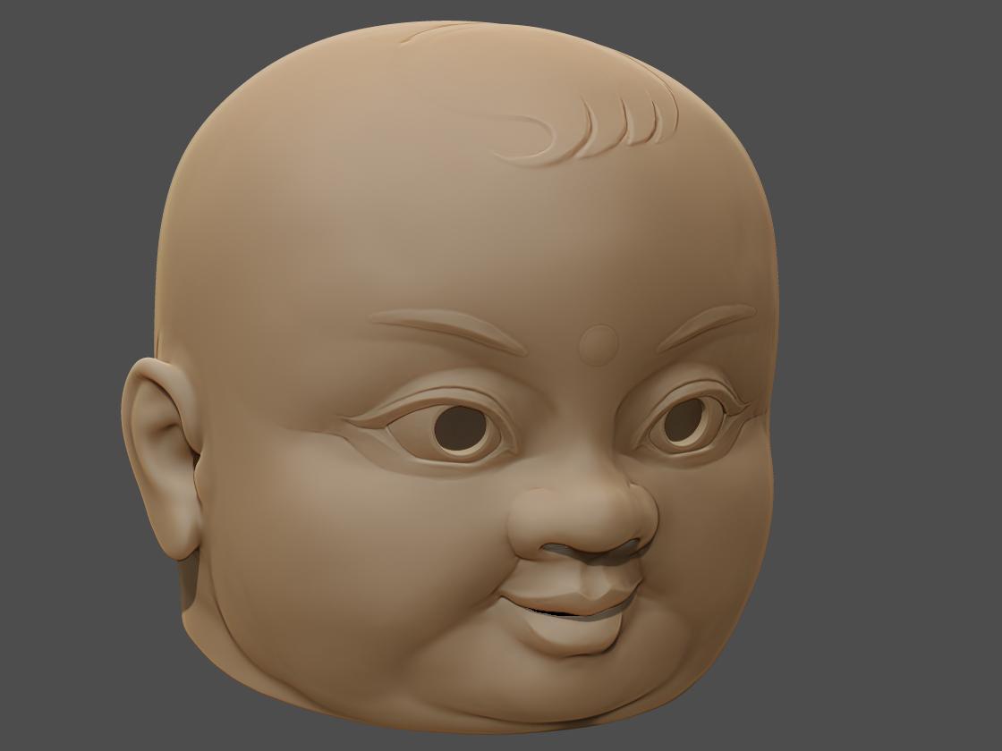 诡异大头娃娃面具