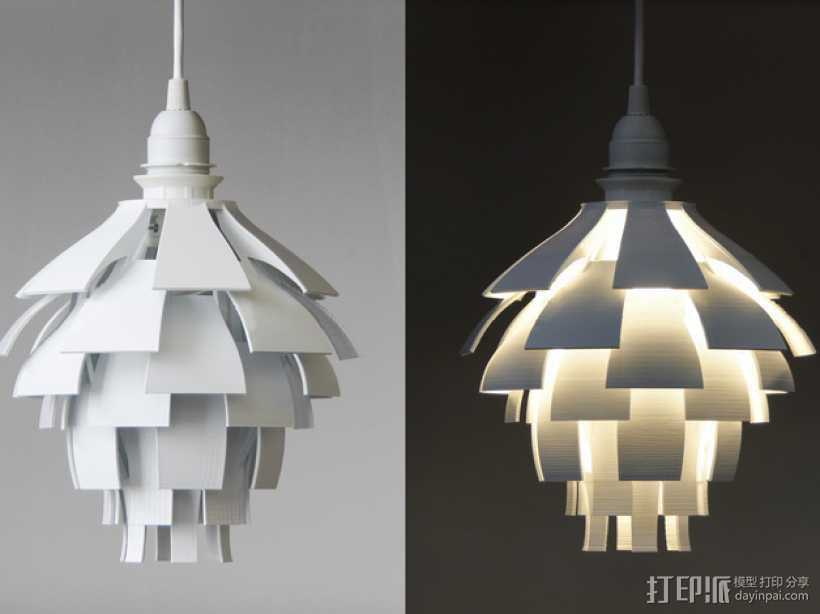 松果灯罩 3D打印模型渲染图