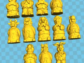 12生肖拜年 雕塑