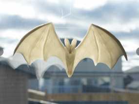 万圣节蝙蝠模型