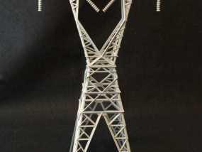 信号塔3d模型