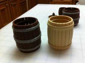橡木小酒桶模型