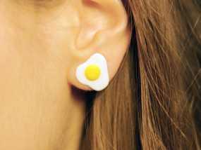 太阳蛋/煎蛋耳环