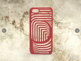 弯曲图形手机壳