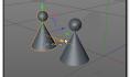 c4d中如何将多个物体拼合?